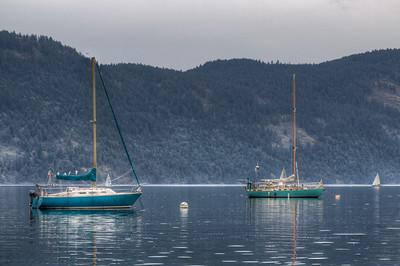 Sailboat - Maple Bay, Cowichan Valley, Vancouver Island, British Columbia, Canada