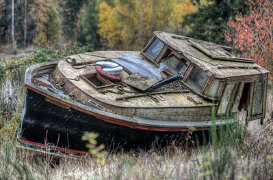 The Seeker - Abandoned Boat - Cowichan Valley, Vancouver Island, British Columbia, Canada