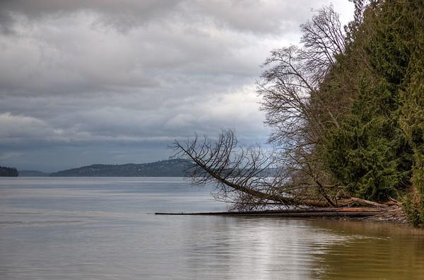 Ocean Scene - Vancouver Island Coast - Cowichan Valley Region, Vancouver Island, BC, Canada