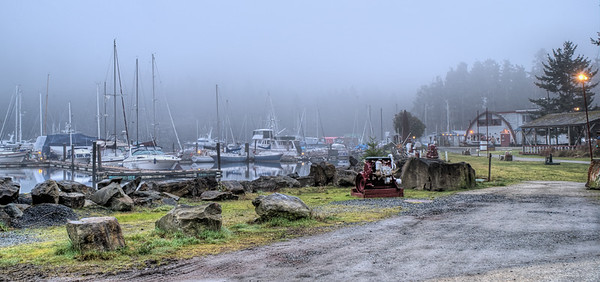 """Foggy Maple Bay Marina - Maple Bay, Vancouver Island, BC, Canada Visit our blog """"Misty Maple Bay Morning"""" for the story behind the photo."""