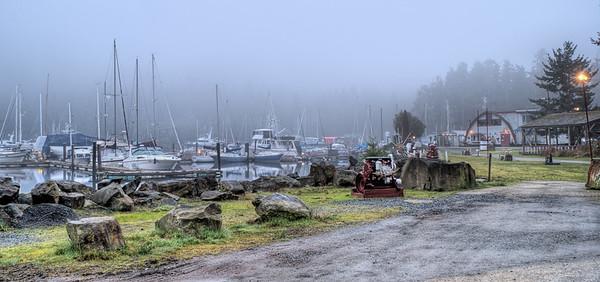 Foggy Maple Bay Marina - Maple Bay, Vancouver Island, BC, Canada