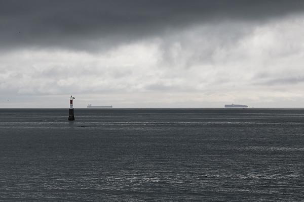 Container Ships - Victoria, Vancouver Island, British Columbia, Canada