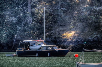 Anchored Boat - Sooke, Vancouver Island, British Columbia, Canada