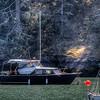 Anchored Boat - Sooke, Vancouver Island, British Columbia, Canada