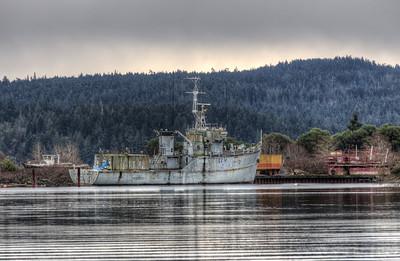 Derelict War Ship - Sooke, Vancouver Island, British Columbia, Canada