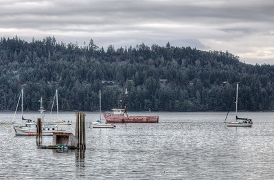 Boats - Lighthouse Country, Mid-Island, Vancouver Island, British Columbia, Canada