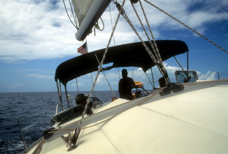 Sailing a 44 foot Beanetau of Tonga