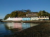 Portree Harbor Isle of Skye Scotland on a clear day