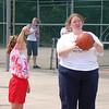 Logan's buddy Hanna with their teacher, Miss Correll