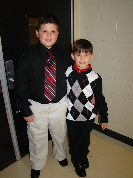 Dylan and Logan before the 2009 Holiday Concert
