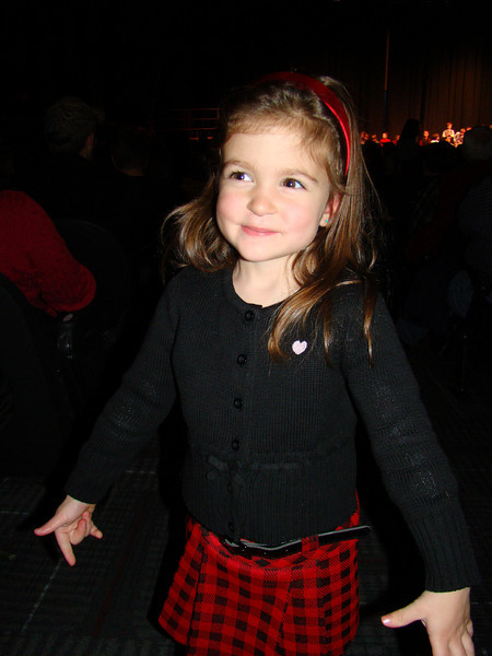 Kennedy having fun at the concert