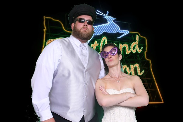 Marissa & Daniel, Photo Booth, Lakeside Gardens, June 26