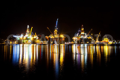 Westcon yard activity, oilrigs in Olensfjord 2013. Copyright Svein Egil Økland