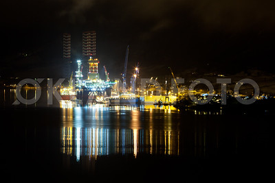 Westcon yard activity, oilrigs in Olensfjord 2013. Copyright Svein Egil Økland