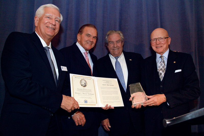 NCGMA President Dick Grahn, Honorable Thomas J. Ridge, Boysie Bollinger and Admiral Robert J. Papp, Jr. USCG (Ret.)