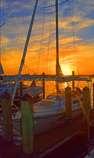 Sunrise on Estero Bay.