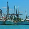 shrimp boats in harbor
