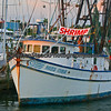 Shrimp boat in port.