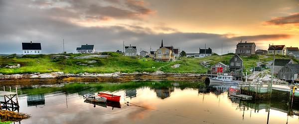 Peggy's Cove  VillagePano20x48