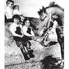 kids on hay bales Los Alamitos