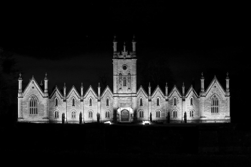 Floodlit Building Aberford West Yorkshire