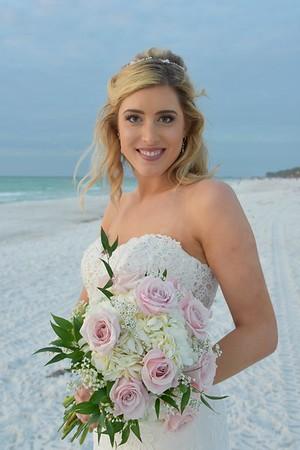 Beautiful destination wedding at Coquina Beach, FL