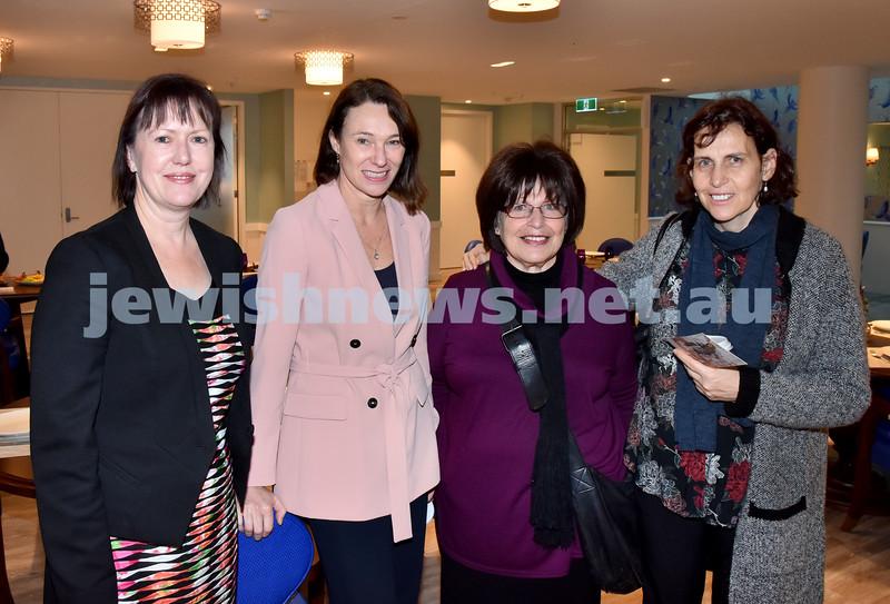 Mark Moran breakfast. From left: Natalie Cooper, Tina Boger, Zimra Segall, Shani Gabai. Pic Noel Kessel