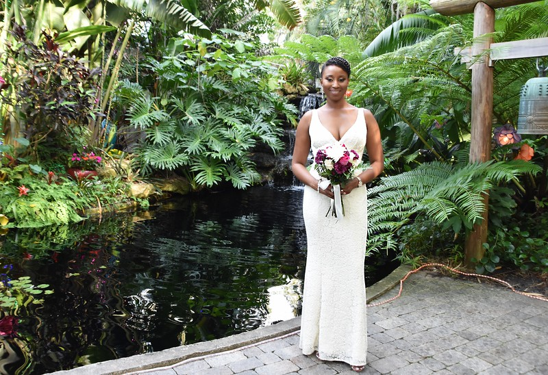 Beautiful intimate wedding Marie Selby Botanical Gardens, Sarasota FL