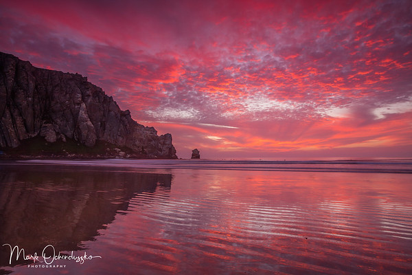 Skyfire At Morro Bay