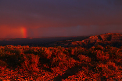 White Mountain View of Badlands & Rainbow at Sunset - The Wild Horses of Pilot Butte - Green River, Wyoming - Mark Rasmussen - May/June 2014