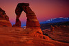 Delicate Arch and afterglow - Arches National Park - Mark Rasmussen - July 2009