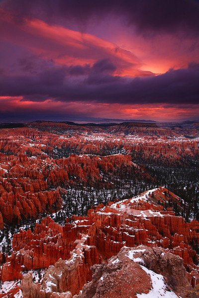 Stormy sunrise at Bryce Point - Bryce National Park - Mark Rasmussen - November 2011