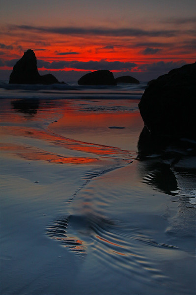 Sunset on Bandon Beach - Bandon Beach State Park, Oregon - Mark Rasmussen - May 2011