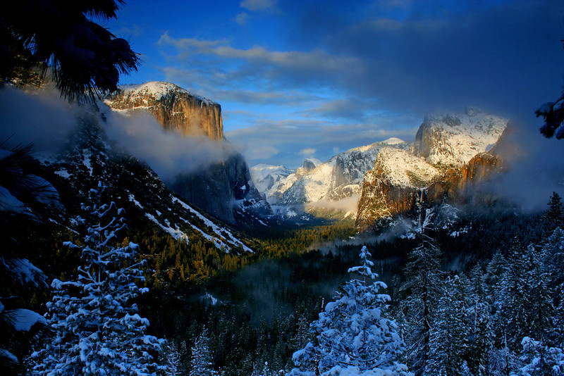 Clearing Winter Storm from Tunnel View - Yosemite National Park, California - Mark Rasmussen