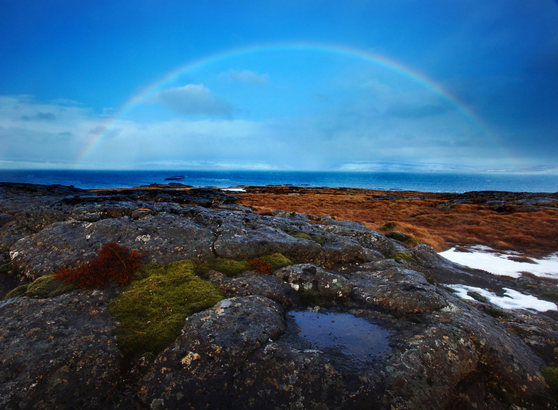 Full Rainbow at Northwest Fjords - Iceland - Mark Rasmussen - March 2012