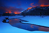 Sunset Snow Scene at Soda Butte Creek - Yellowstone National Park, Wyoming - Mark Rasmussen