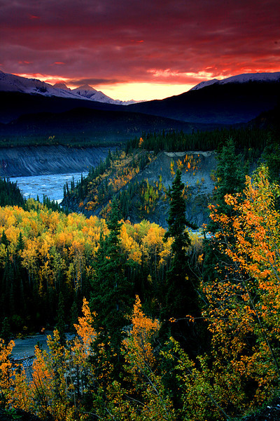 Glowing color and Fall sunset - Wrangell National Park, Alaska - Mark Rasmussen