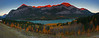 Barrier Lakes sunrise - Panoramic - Canadian Rockies - Mark Rasmussen - October 2010