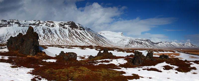 Snefallsnes Peninsula - Panoramic image - Iceland - Mark Rasmussen - March 2012