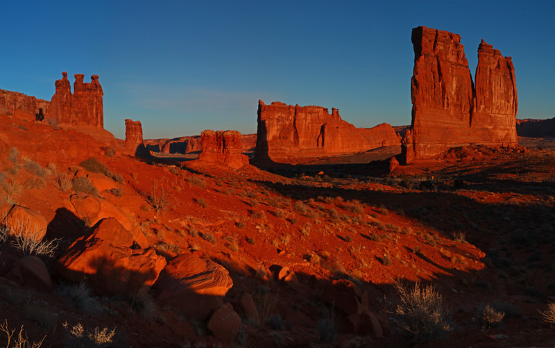 Courthouse Towers - Arches National Park, Utah - Mark Rasmussen - January 2012
