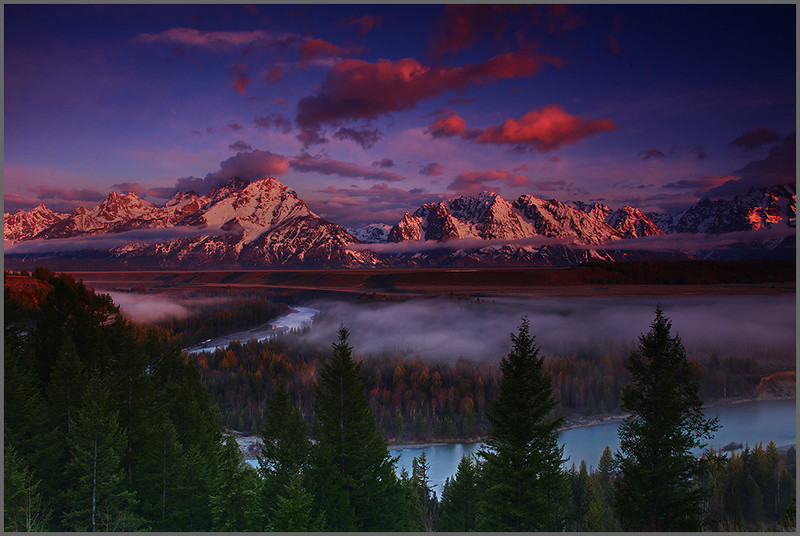 Snake River Sunrise - Grand Teton & Yellowstone National Parks, Wyoming - Mark Rasmussen - June 2011