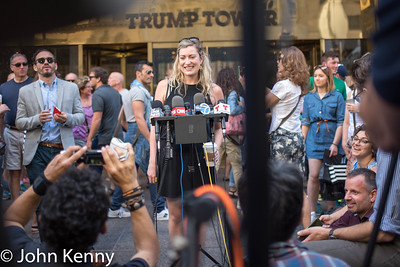 Mark-Viverito Outside Trump Tower 6-6-16