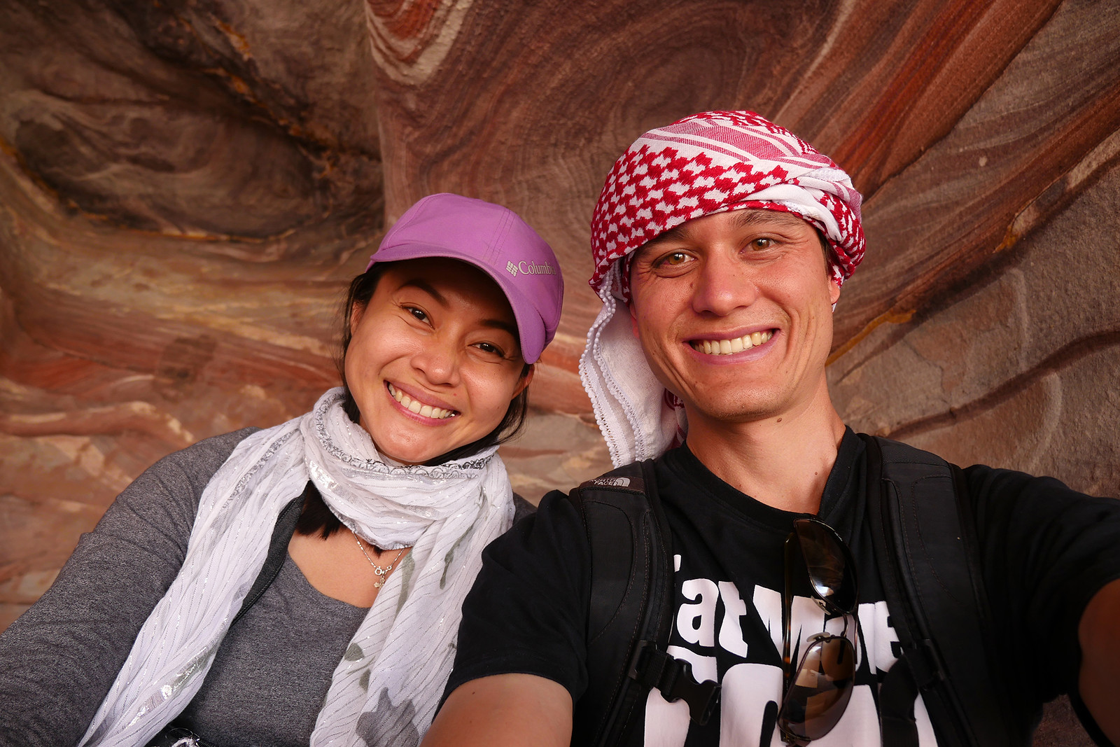 Ying and I in Jordan