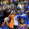 during the Gators' match against the Nebraska Cornhuskers on Saturday, December 16, 2017 at the Sprint Center in Kansas City, Mo. / UAA Communications photo by Tim Casey