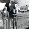 Mark Yaden (right) - 1961 - With brother Danny (age 7) and Dad (Dave, age 40) - Yakima, WA