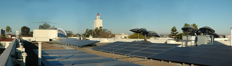 SDSU Physics solar array station. 7 different type of arrays, and a view!