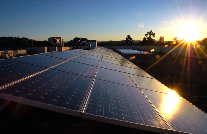 SDSU Physics array station catches early rays.