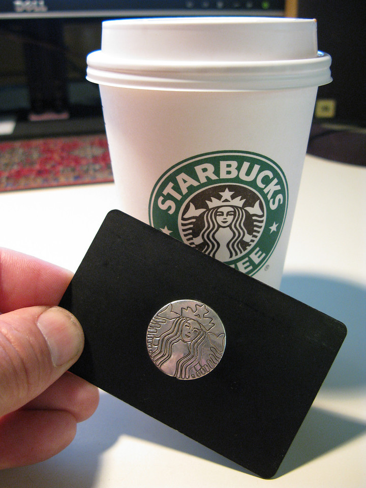 Sterling silver Starbucks card