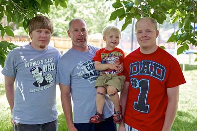 The Dad's: Thomas, Mark, Mark, Jr; and Kadin