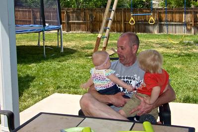 Mark with granddaughter, Makenzie and Grandson, Kadin